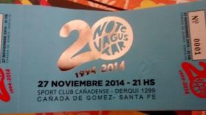 NTVG 20 años entradas